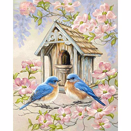Swlyddm 5D Diamond Painting Kits Adults Bird's nest DIY Rhinestone Embroidery Cross Stitch Arts Crafts for Home Wall Decor - 12 X 16 Inch