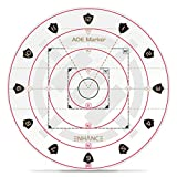 ENHANCE Spell AOE Damage Marker for Tabletop RPG Games - D&D Area of Effect Template Quickly Determines Spell Effects on 1' Grid Battle Maps or Grid-Less Mat Play - DND Accessories Perfect for DM's