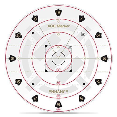 """ENHANCE Spell AOE Damage Marker für Tabletop-RPG-Spiele - D & D-Wirkungsbereichsvorlage Bestimmt die Auswirkungen auf 1\""""Grid Battle Maps oder Grid-Less Mat Play - DND-Zubehör Perfekt für DMS"""