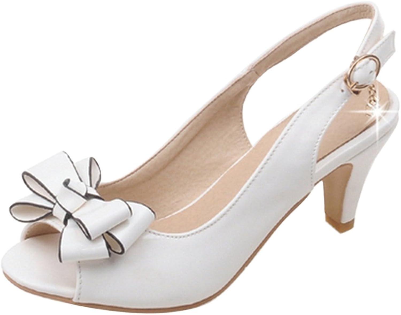 CularAcci Women Kitten Heel Slingback Sandals