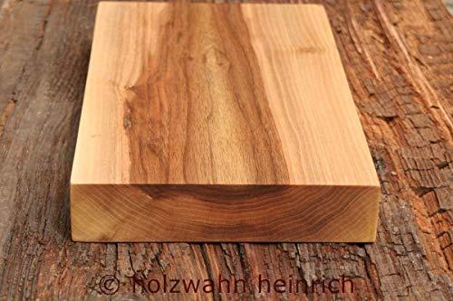Schneidebrett Nussbaum massiv, 37,5 x 22,1 x 5 cm, Küchenbrett, Tranchierbrett, Servierbrett, Handarbeit