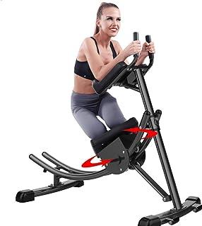 MLQ Ab underlägg, buk crunch underlägg fitnessutrustning, roterande knäskydd, hopfällbar platsbesparing, lämplig för konto...