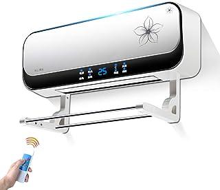 Radiador eléctrico MAHZONG Calentador de Pared 2kW Temporizador de 8 Horas con termostato, Caja Fuerte de baño, Ahorro de energía