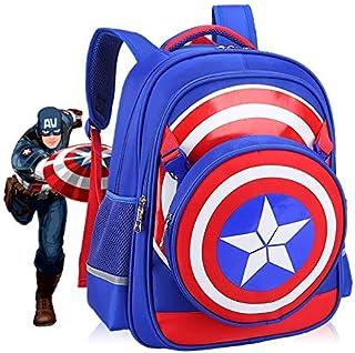 Small Marvel American Captain Elementary School Grade 1-3 Schoolbag Backpack Child Reduced Shoulder Bag BR-47BS