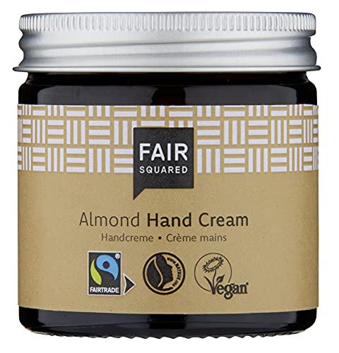 FAIR SQUARED Hand Creme Sensitive Mandel 100 ml Handcreme - Handpflege für empfindliche Haut - mit Fairtrade-Mandelöl - vegane Naturkosmetik - Zero Waste im Mehrweg-Glastiegel