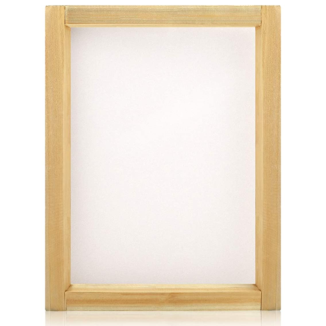 Caydo 1 Piece 10 x 14 Inch Wood Silk Screen Printing Frames with 110 White Mesh