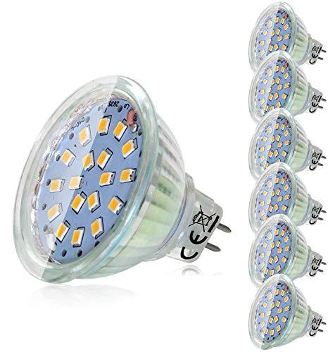 6er Pack MR16 GU5.3 LED Lampen, GU5.3 LED Birne 12V 5W Ersetzt 45W Halogenlampen, Neutralweiß 4500K, 450lm, GU5.3 LED Leuchtmittel, Nicht Dimmbar