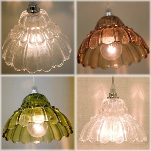 3色展開♪【Ameri Lamp アメリランプ】ペンダントランプ1灯【フラワー】♪(アンバー)