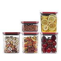 保存容器 WHZG 食品貯蔵ボックスのキッチン冷蔵庫食品貯蔵容器は、透明封止スリーブ5を真空中 キャニスター (Size : B)