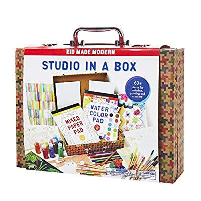 Kid Made Modern Studio in A Box Set - Painting Sketching and Coloring Arts and Crafts Kit