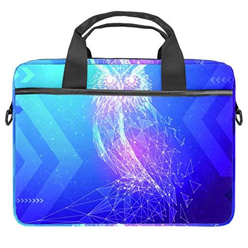 Abstract Image Owl Laptop Bag Briefcase Shoulder Messenger Bag Water Repellent Laptop Bag Satchel Tablet Bussiness Carrying Handbag Laptop Sleeve for Women and Men