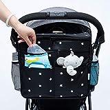 Orzbow borsa per neonato passeggino universale,organizer passeggino,porta biberon per passeggino,borsa cambio neonato,Tasche perpannolini da appendere(Balck)