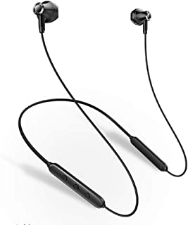 Sports Bass Bluetooth Earphones- Wireless earbuds Convenient Wearing around the neck No wrap hands Good for Sports/Moving ...