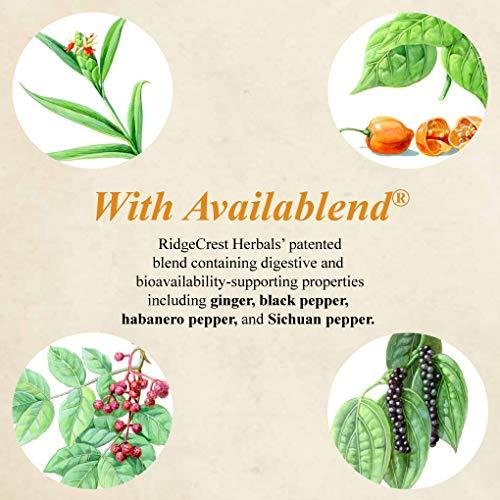 RidgeCrest Herbals Adrenal Fatigue Fighter, Adaptogen Stress Support, 60 Vegetarian Capsules