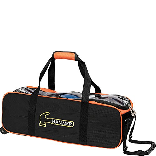 Hammer Premium Triple Tote Bowling Bag, Black/Orange