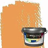 WALLCOVER Colors RAL 1034 - Colores RAL 1034, 1 l, para interiores, color amarillo pastel mate, pintura profesional para paredes interiores en calidad prémium, otros tamaños disponibles
