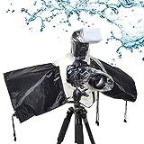 Funda de lluvia para cámara de fotos, impermeable, funda para la lluvia, universal, protección para la lluvia, accesorio para cámara de fotos, color negro