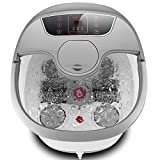 Foot Spa Bath Massager with Massage Rollers and Balls(Motorized) for Health and Cleaning, Feet Bath Tub with Heat and Bubbles, Temp+/-, Timer, and Modes Control, Rotating Pedicure Stone