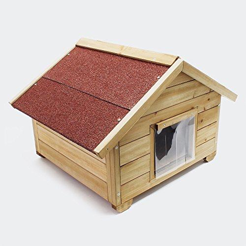 Wiltec Kleines Katzenhaus für Garten oder Terasse