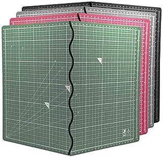 エコ無毒無臭 A2 カッターマット折り畳み式 簡単便利 筆記、絵画、彫刻 多機能 台湾製CNS認證 (黑)
