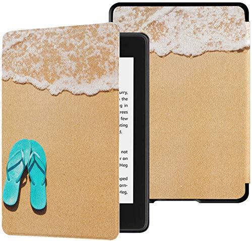 Funda Kindle Paperwhite Chanclas de Playa de décima generación en Color Arco Iris Fundas Kindle Funda Paperwhite con Ereaders de activación/Reposo automático Funda Kindle Paperwhite de décima gener