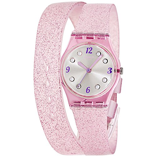 Swatch Montre Femme Digitale Quartz avec Bracelet en Silicone – LP132