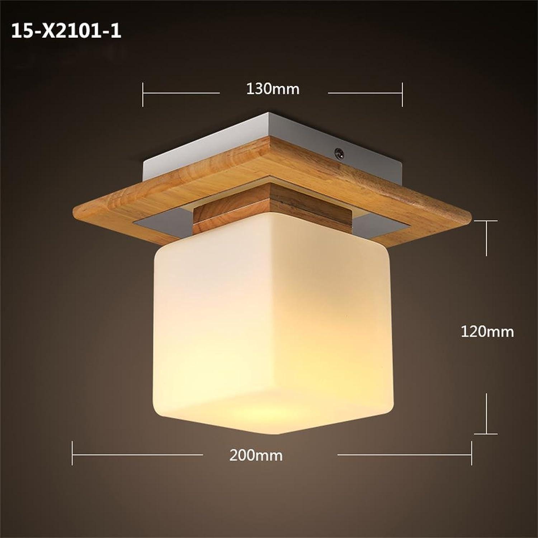 Uncle Sam LI- Moderne einfache hlzerne Deckenlampe Schlafzimmer Eingang Flur Korridor Lampen