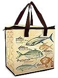 Hawaiian Insulated Non-Woven Shopping Tote Gyotaku