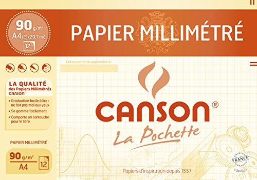 Canson Papier à dessin 12 feuilles A4 21 x 29,7 cm Bistre