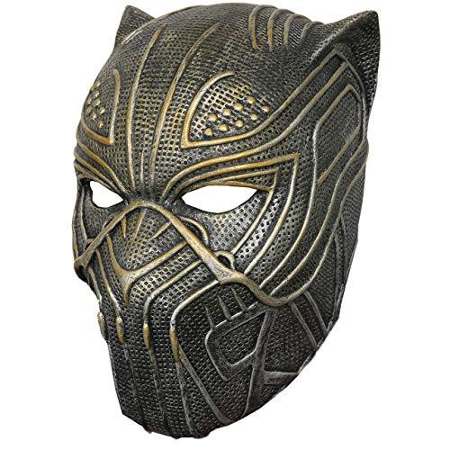 Mesky Erik Máscara en Halloween Mask para Hombres Cosplay de Anime Disfraz Casco de Látex Helmet Adultos Unisex Accesorio 450g Ligero Negro
