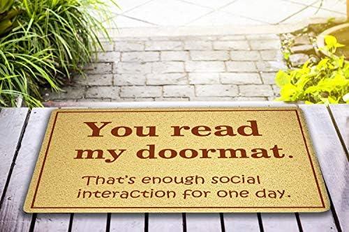 You read my doormat