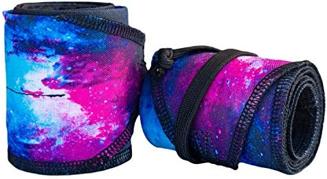 MakuWear Galaxy Wrist Wraps for Weightlifting Powerlifting Crossfit Gymnastics MMA Strength product image