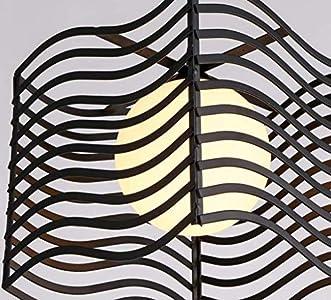 YSH Candelabro/Luces de Techo/Lámpara, Luces Combinadas Candelabros Led Lustre Restaurante Bar Dentro de Bar Barras de Cristal de Murano Luces de Cocina Seleccionar,Negro