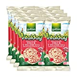 Gullón - Tortitas de Arroz integral, yogur y frambuesa Vitalday, 1.400 g, Pack de 12