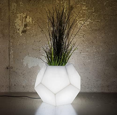 LED Blumentopf Alma Indoor / Outdoor XXL - Pflanzentopf mit Beleuchtung ideal für Pflanzen Innen und Außen – Blumenkübel - Pflanzenkübel – Raumteiler oder Hochbeet