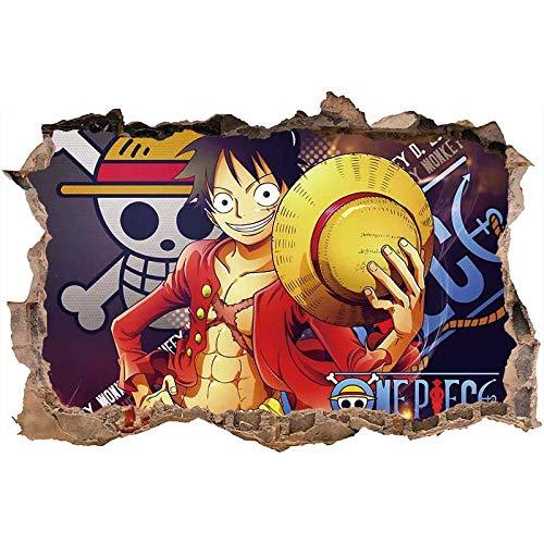 xiangchen123 3D One Piece Lu FEI Pared de Vinilo Anime Home Decor Dormitorio niños Arte decoración extraíble Nursery Kids Room Etiqueta de la Pared Fondo de pantalla-60 * 90CM-D_60*100cm