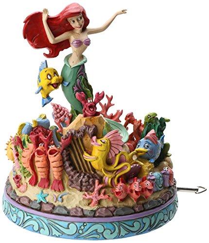 Disney Tradition 4039073 Resina Anniversario Carillon, Sotto L'OceAnno, Scena Ariel 25°, Disegno Di Jim Shore, 20.5 Cm
