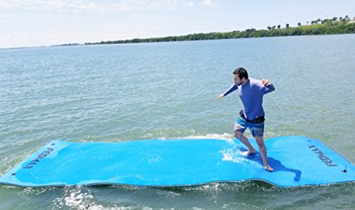 Floating Water Mat for Lake or Salt Water, 18' x 6' Giant Pad, Choose Color, Large Boat Side Foam Raft for Adults and Kids. (Blue)