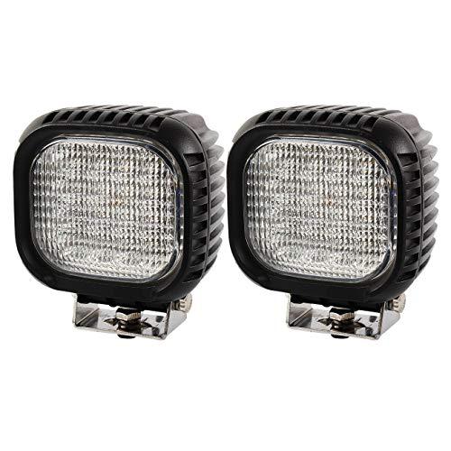 BRIGHTUM 48W CRE LED Offroad Arbeitsscheinwerfer weiß 12V 24V Reflektor worklight Scheinwerfer Arbeitslicht SUV UTV ATV Arbeitslampe Traktor Bagger LKW KFZ (2 Stück)