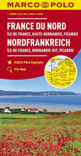 Marco Polo Noord-Frankrijk 1:300.000: Wegenkaart 1:300 000