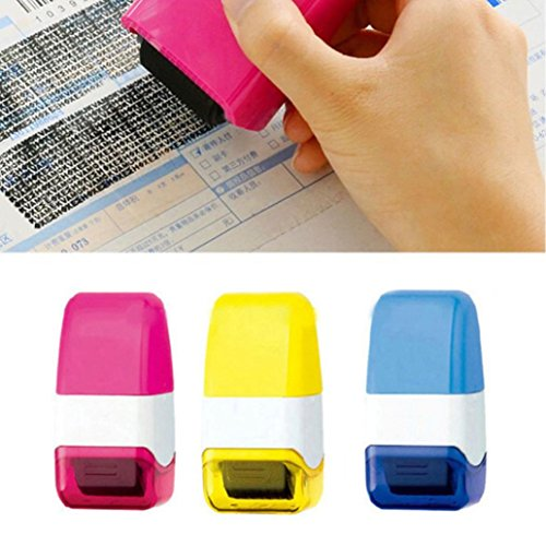 TRENDINAO Roller Stamp, 1 PCS Freedom Color Guard Your ID Roller Stamp SelfInking Stamp Messy Code Security Office