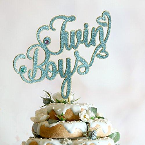 Twin Boys Cake Topper