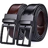 Beltox Fine Men's Dress Belt Leather Reversible 1.25' Wide Rotated...