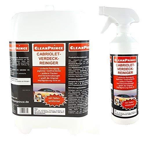 CleanPrince Verdeckreiniger 2,5 Liter Cabriolet Verdeck Reiniger Cabriodach Cabrioverdeck Cabrioverdeckreiniger