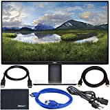 Dell P2719H 27' 16:9 IPS Monitor + Display Port Cable + ZoomSpeed HDMI Cable + USB 3.0 Cable + AOM Microfiber Cleaning Cloth Monitor Bundle