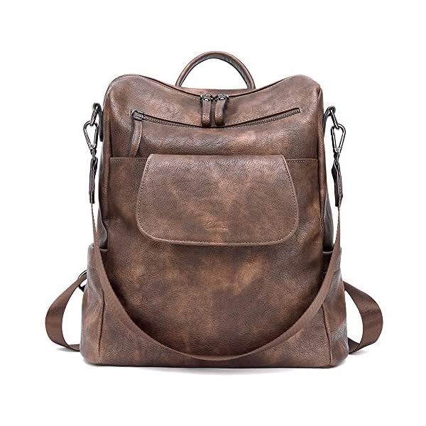 CLUCI Backpack Purse for Women Fashion Leather Designer Travel Large Convertible Ladies Shoulder Bags 1