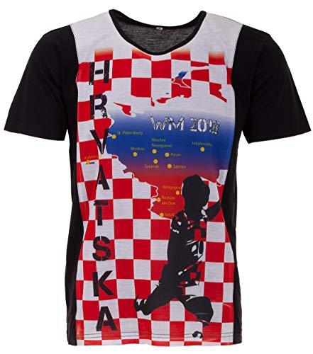 LUCKY WM 2018 Kroatien Fan Shirt, Farbe:Rot, Größe:XL