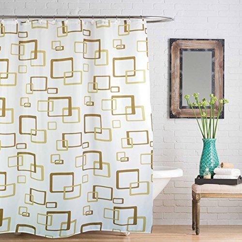Linens Limited - Rideau de Douche - Motif carrés en Relief - Beige - 180 x 180 cm