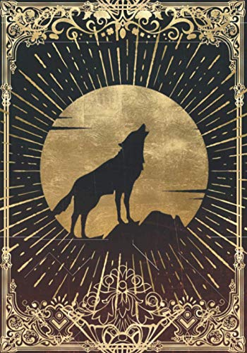 Wolf of the Blood Moon Campaign Notebook: RPG Journal Mixed Paper Ruled, Graph, Hex