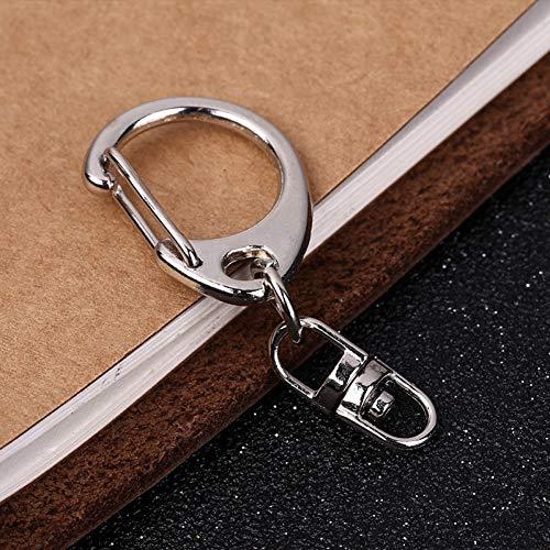 ERDING Sleutelhanger, Sleutelhangers, 10 stks/partij Sleutelhangers Zilver Kleur Duurzame Sleutelhanger Split Ring Sleutelhangers DIY Maken Accessoires P008